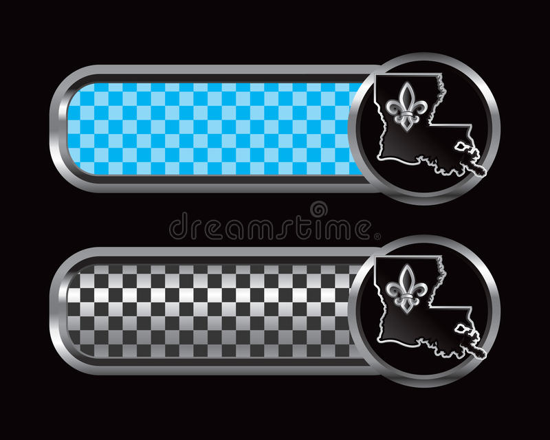 Download Lousiana State Icon On Checkered Tabs Stock Vector - Illustration: 10979791