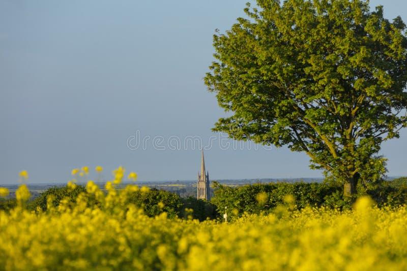 Louth, Lincolnshire, UK, Maj 2019, A iglica St James kościół w miasteczku Louth w Wolds widok zdjęcia royalty free