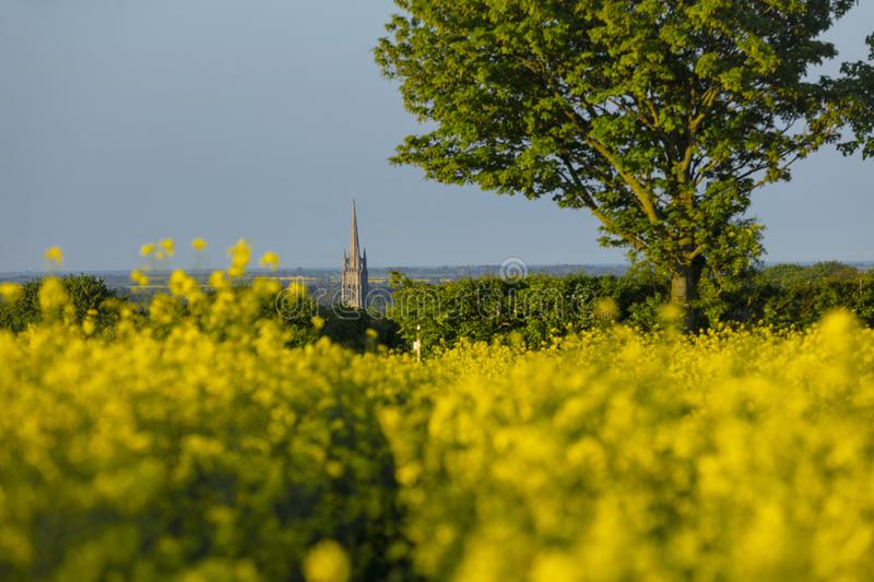 Louth, Lincolnshire, UK, May 2019, A view of the spire of St James Church in the town of Louth in the Wolds. Louth, Lincolnshire, United Kingdom, May 2019, A stock image