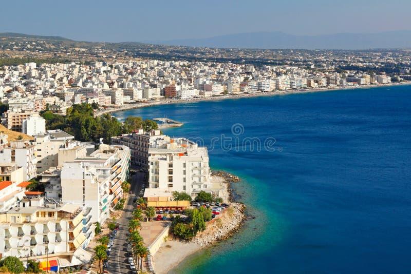 Loutraki semesterort, Grekland arkivfoton