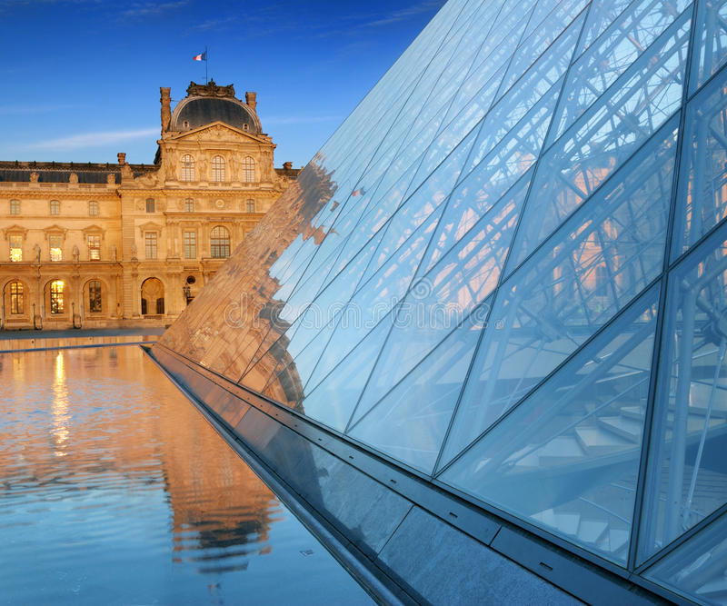 Download Louvre. editorial stock photo. Image of history, chimney - 26841498