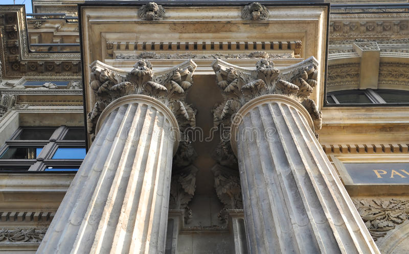 Download Louvre architecture stock photo. Image of pilaster, column - 26725846