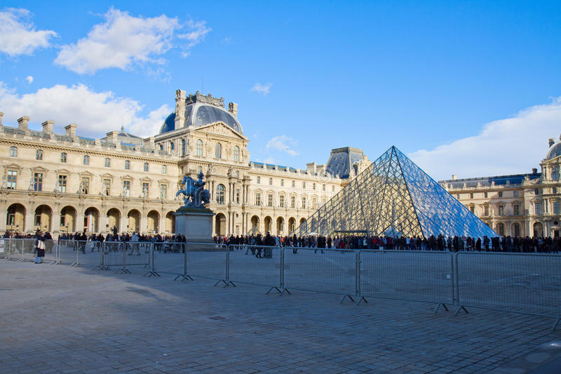 The Louvre Art Museum in Paris royalty free stock photos