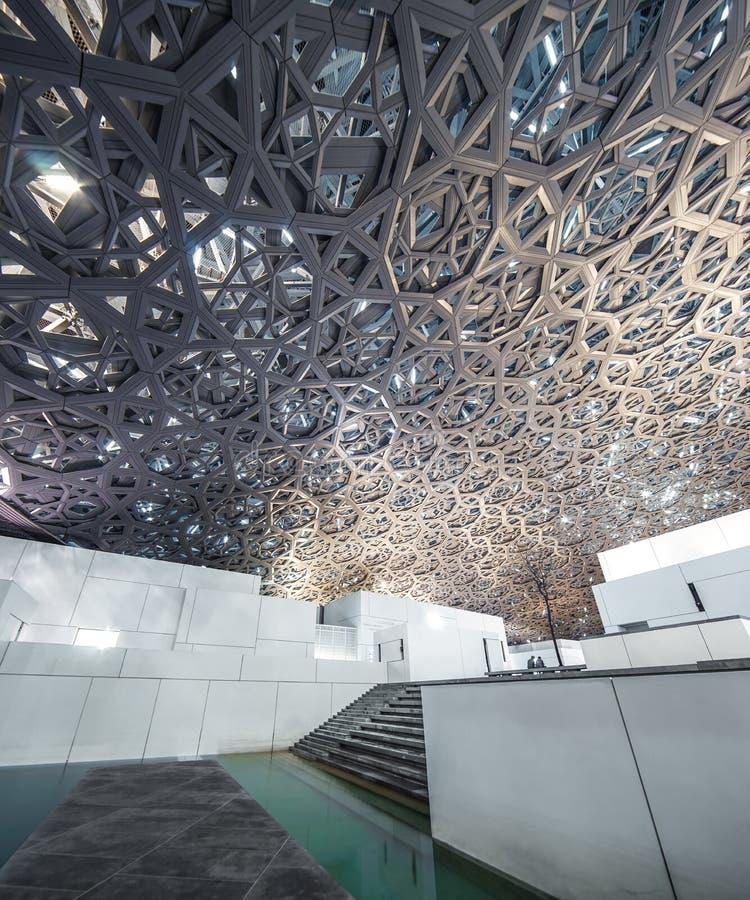 Louvre, Binnenland, Abu Dhabi, Emiraten, Dec 2017 royalty-vrije stock afbeelding
