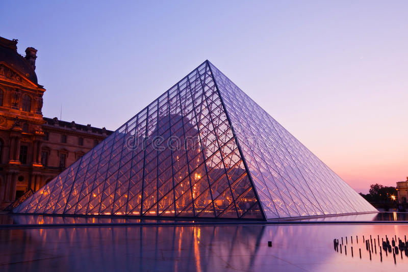 Download Louvre at dusk editorial image. Image of clouds, european - 37995695