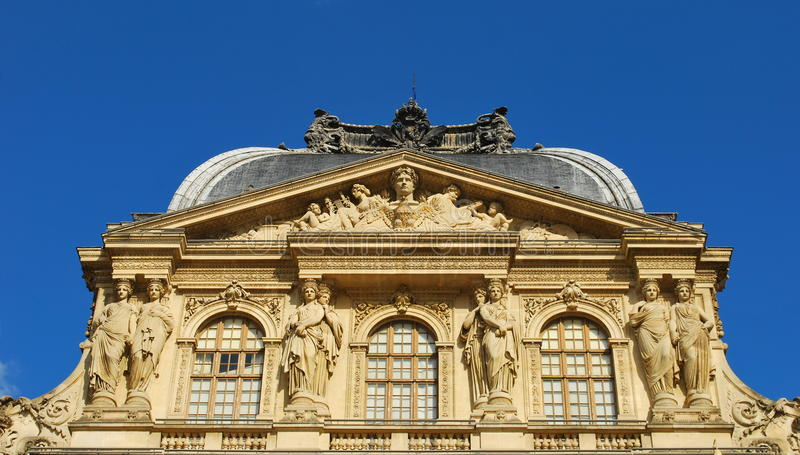 Louvre. Fragment. royalty free stock image