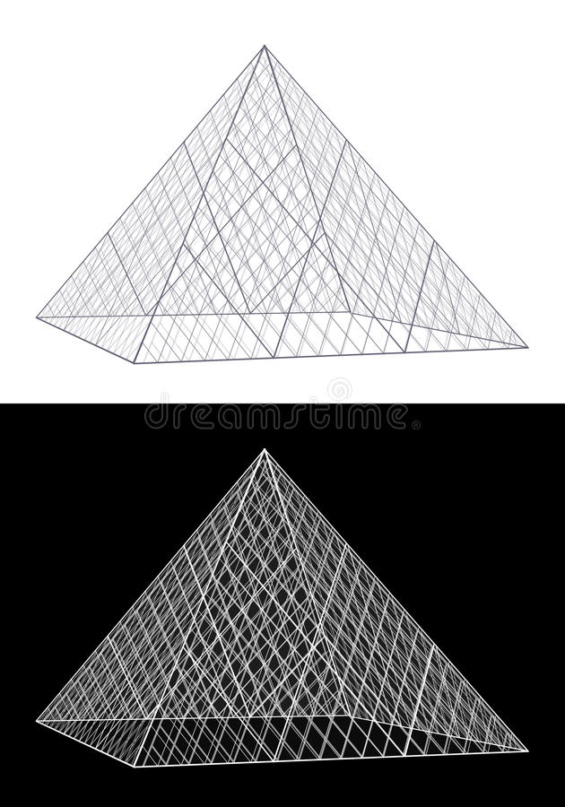 Download Louvre Glass Pyramid Building Stock Vector - Image: 20152304