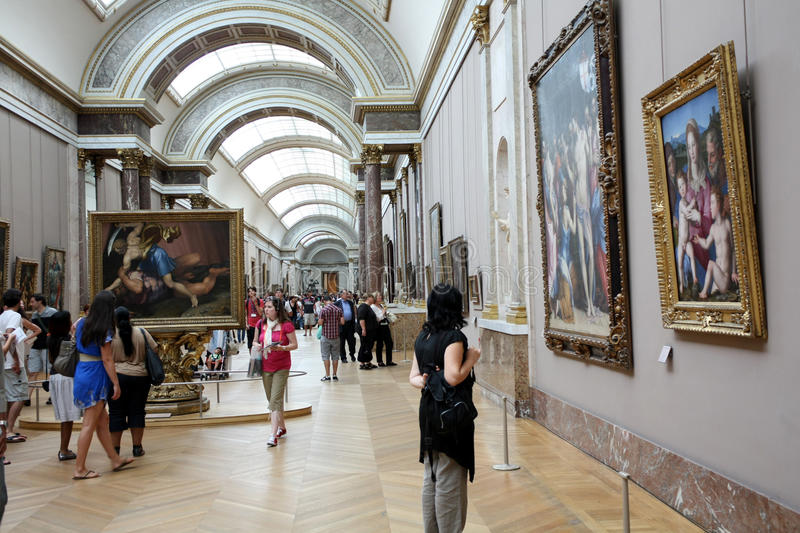 Louvre Museum Art Gallery stock photography