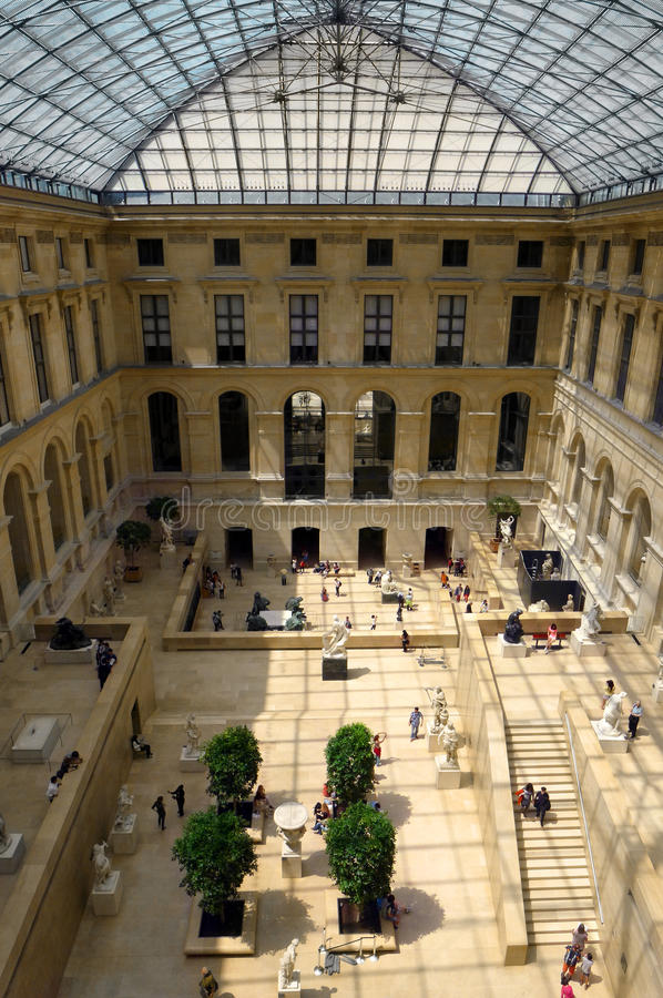Louvre museum interior royalty free stock image