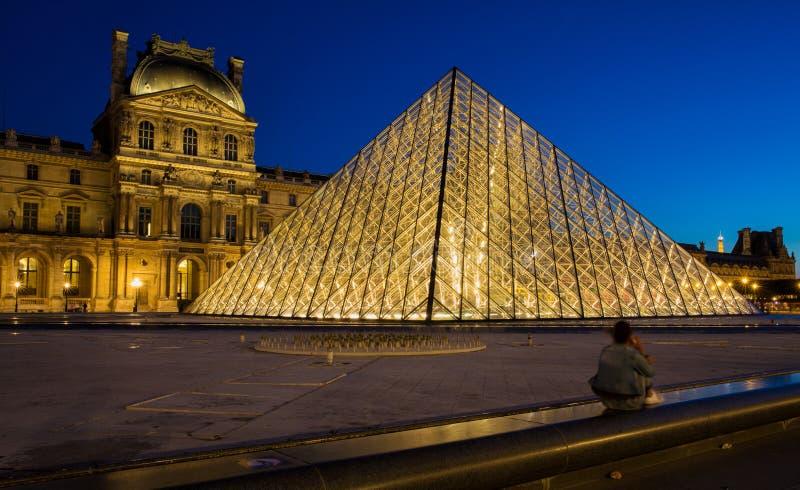 Louvre-Museum in Paris stockfotografie