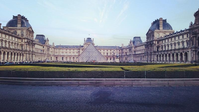 Louvre Museum. In Paris. Awesome architecture stock image