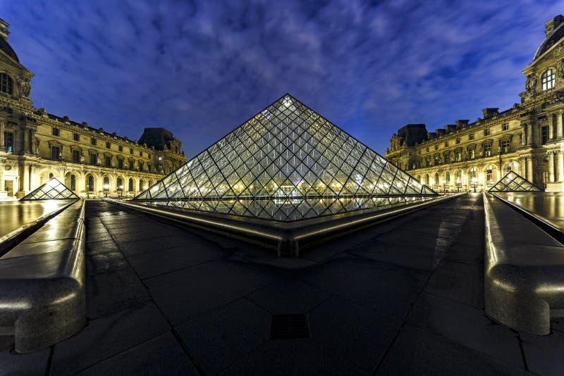 Louvre Museum Pyramid Paris stock image