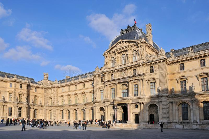 Louvre Museum the worlds largest art museum and a historic monument in Paris, France.  stock photography