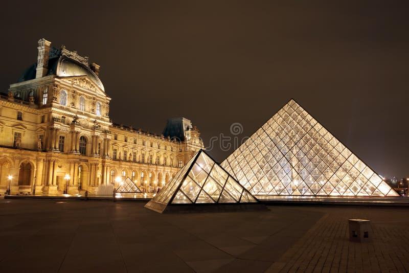 louvre muzeum Paris Francja obraz stock