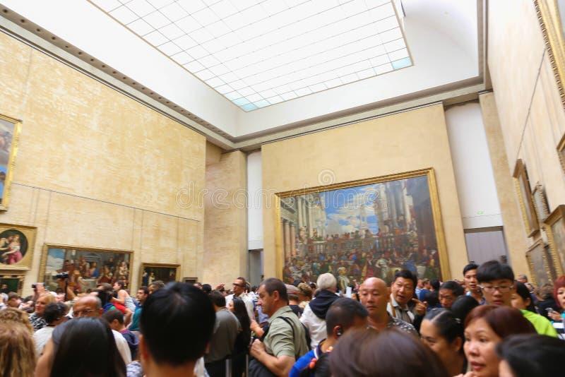 Louvre muzeum Paryż fotografia royalty free