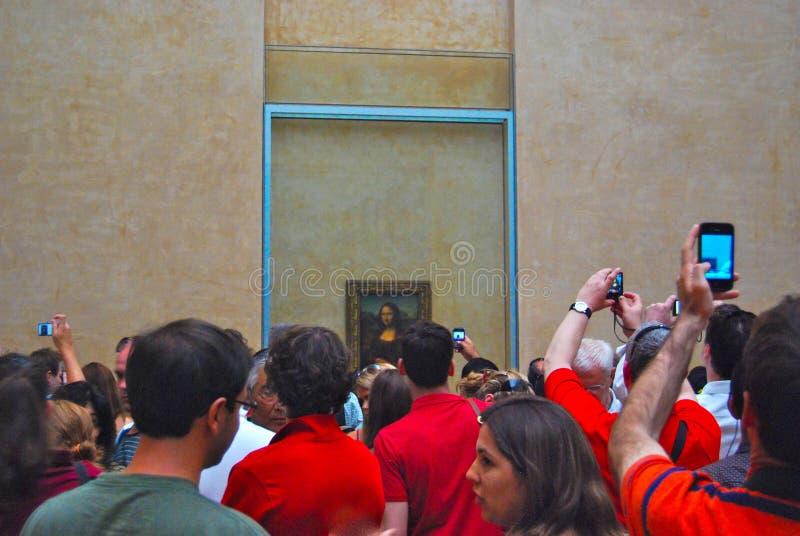 Louvre muzeum sztuki Mona Lisa tłum obrazy royalty free