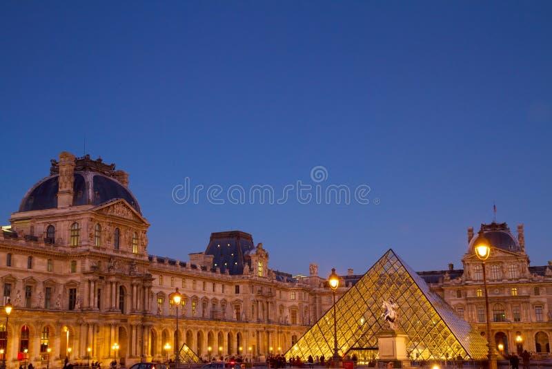 Louvre muzeum sztuki, Paryż, Francja obrazy royalty free