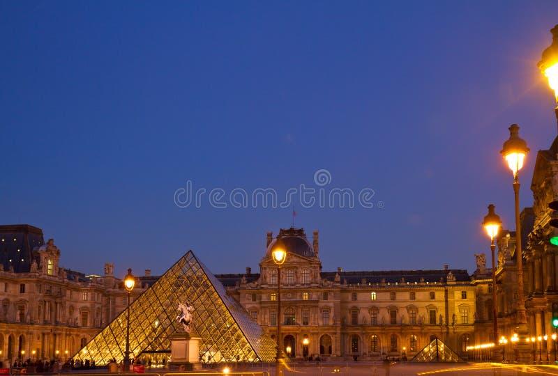 Louvre muzeum sztuki w Paryż obrazy stock