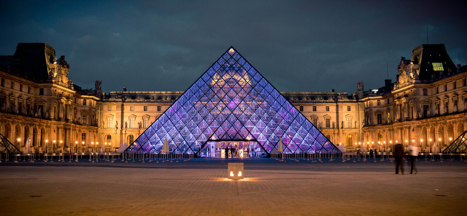 The Louvre at Night stock photography