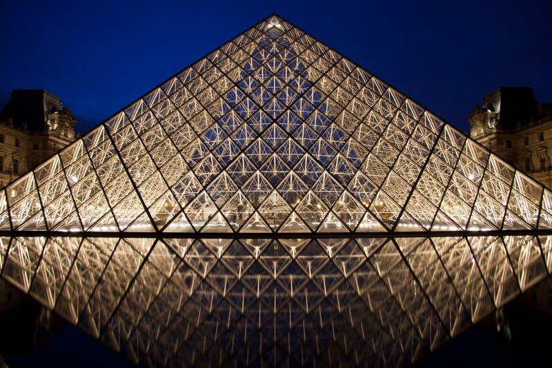 Louvre ostrosłup obrazy stock