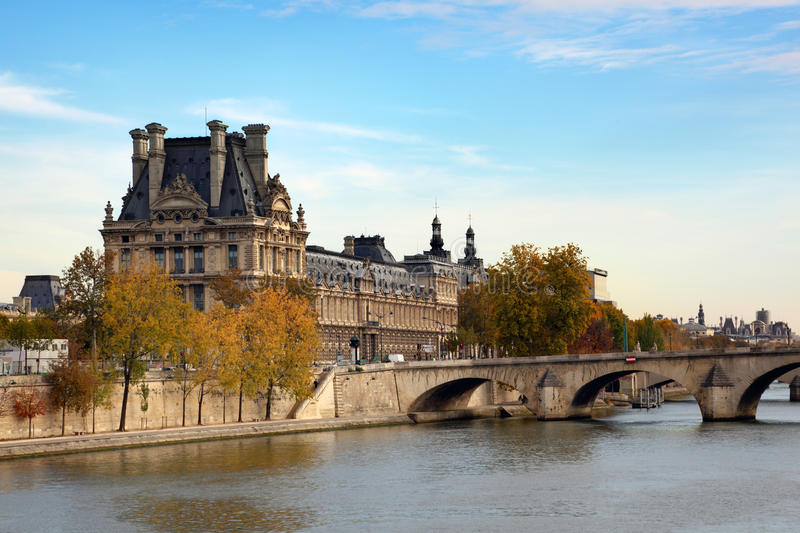 Louvre in Paris stock photos