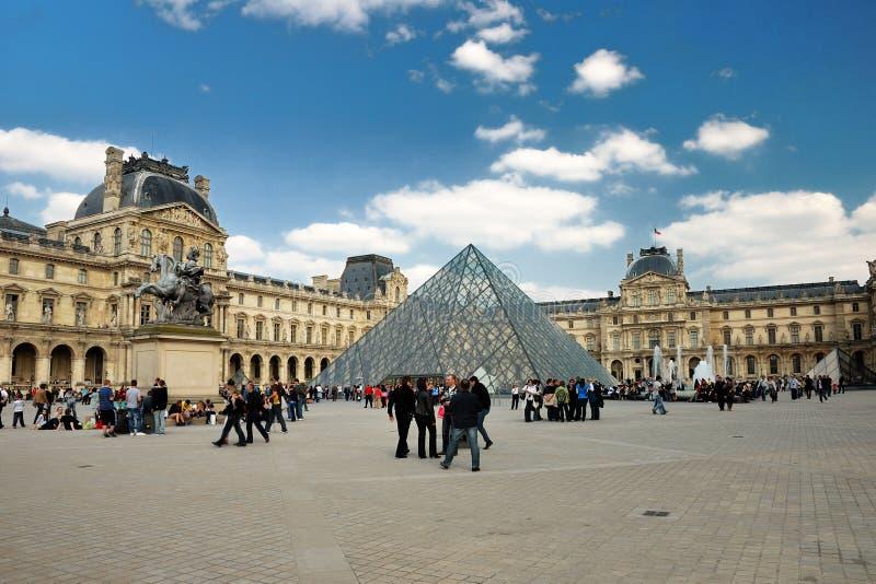 The Louvre in Paris stock photo