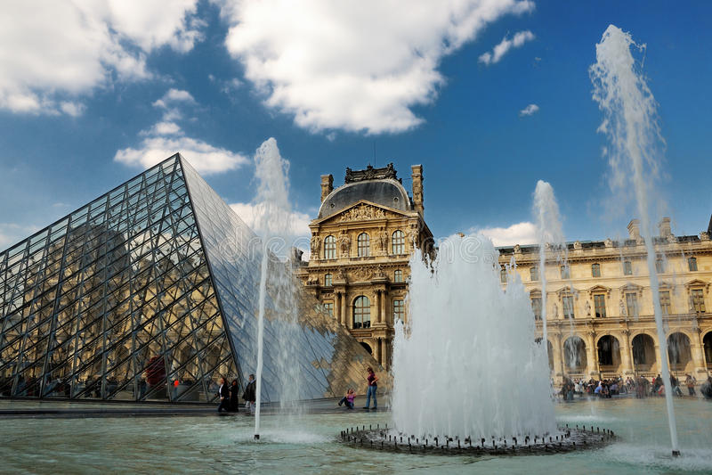 The Louvre in Paris royalty free stock photo