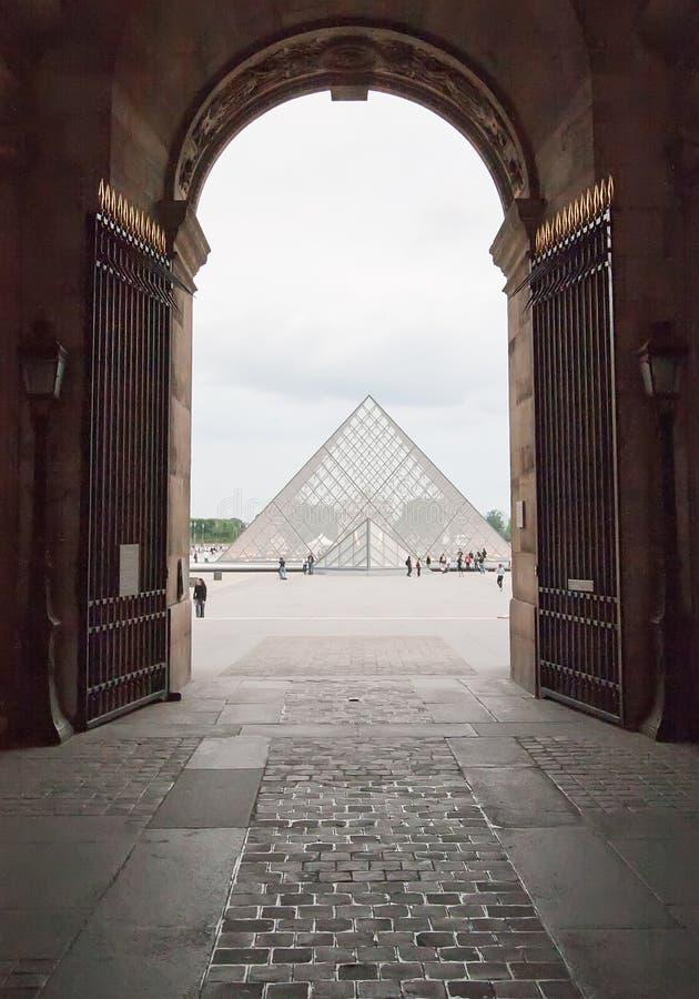Louvre in Paris lizenzfreies stockbild