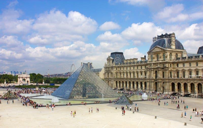 Louvre Paris arkivbild