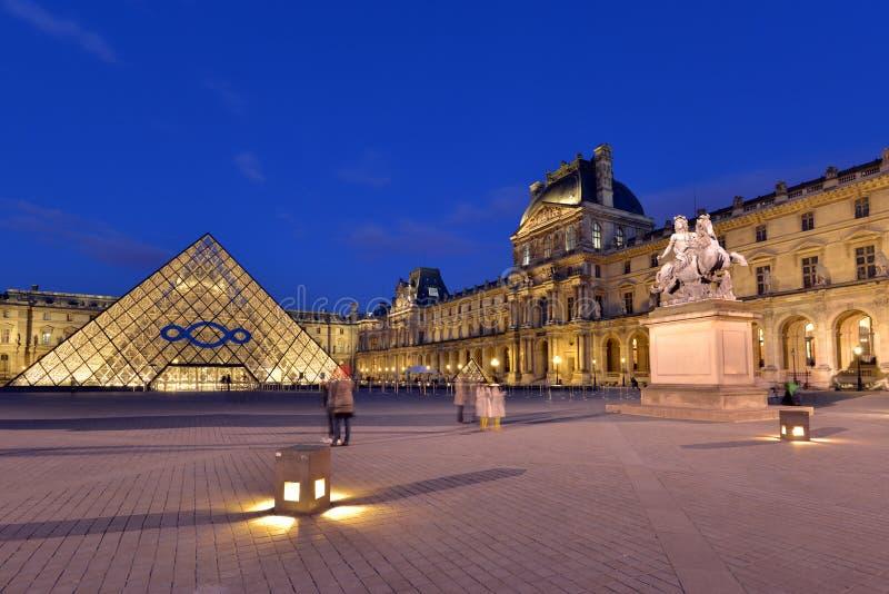 louvre Paris fotografia royalty free