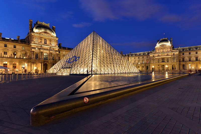 louvre Paris zdjęcia stock