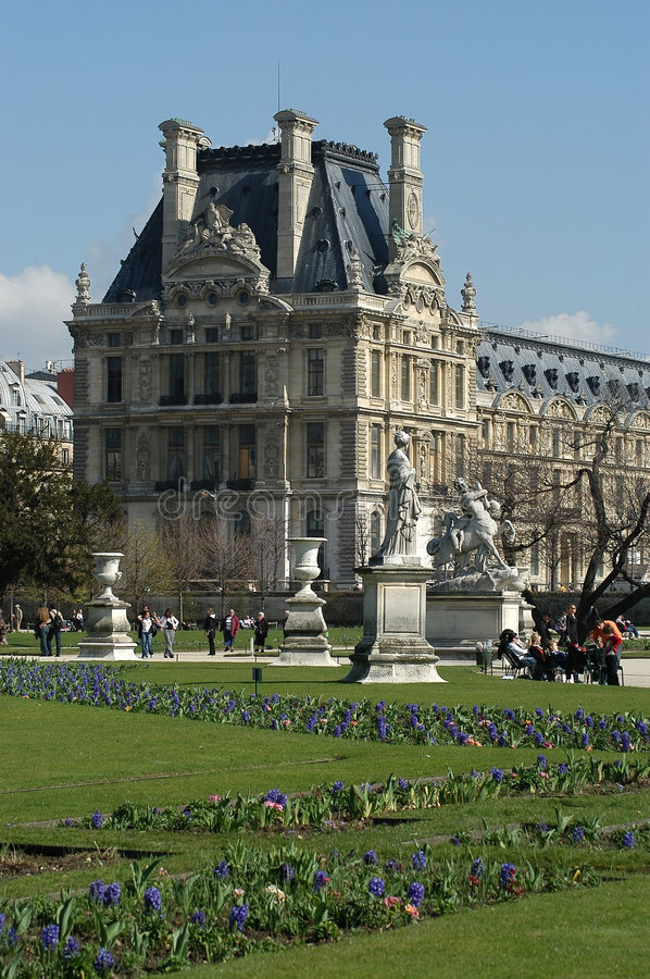 Download Louvre and park stock photo. Image of paris, monument, historic - 226848