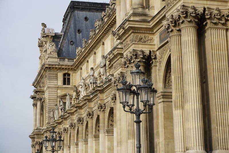 Louvre powierzchowność obraz royalty free