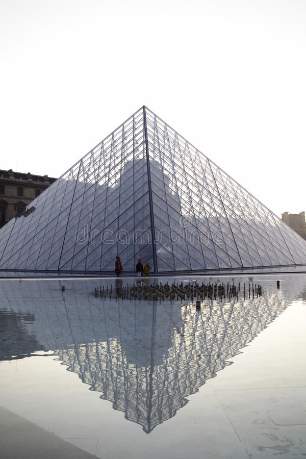 Download Louvre pyramid editorial image. Image of destination - 18878025
