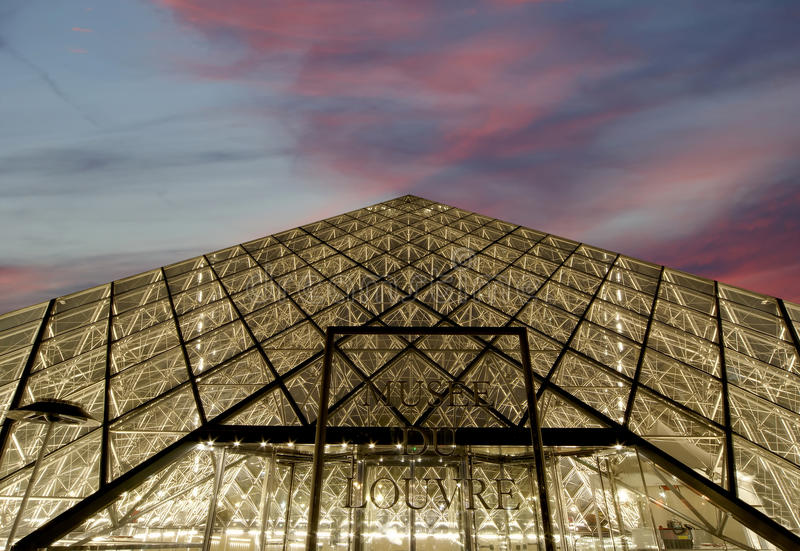 Download Louvre, Pyramid, (by Night), France Editorial Photo - Image: 34249321