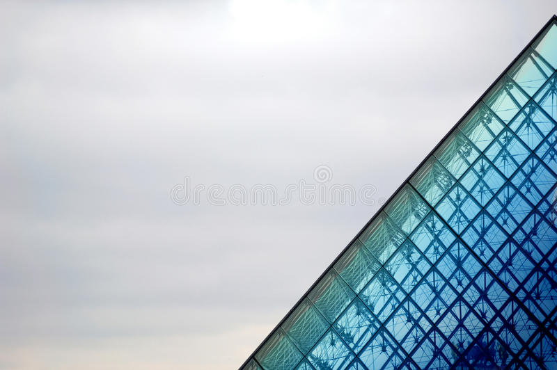 Louvre Pyramid, Paris, France royalty free stock images
