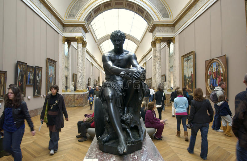 Download Louvre Tourists Visiting Sculpture Editorial Stock Image - Image of architecture, palace: 18835744