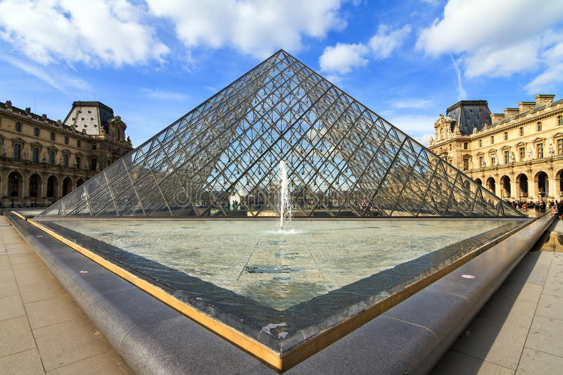 Louvre triangle royalty free stock images