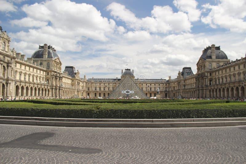 Louvremuseum | Paris Frankrike arkivfoto