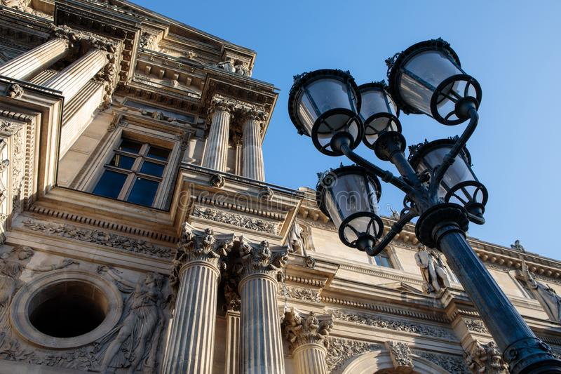 Louvremuseum, Pavillon Richelieu royaltyfria foton