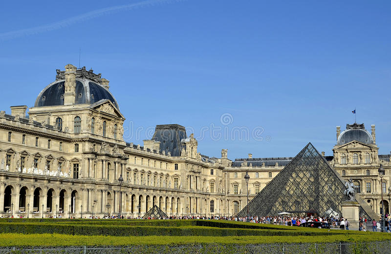 Louvres museum, paris stock image