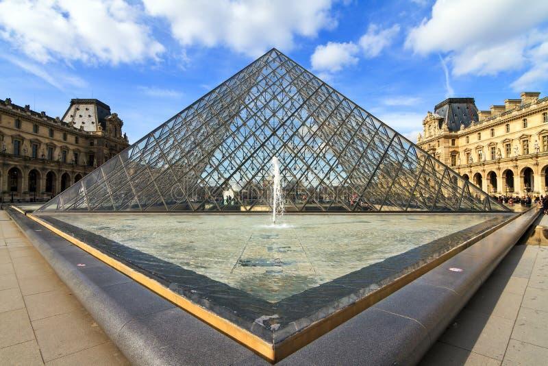 Louvretriangel royaltyfria bilder
