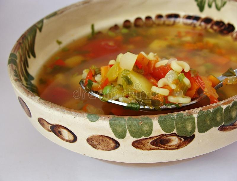 Download Lovage soup stock photo. Image of romanian, soup, light - 40366116