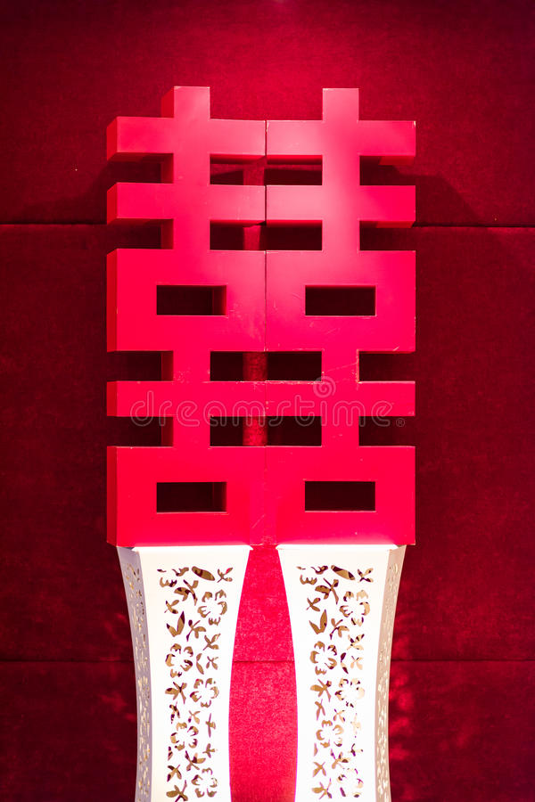 Lovande kinesisk garnering royaltyfria bilder