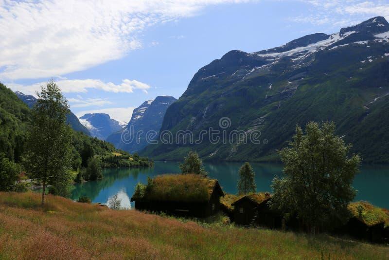 Lovatnet-See bei Loen in Norwegen stockfoto