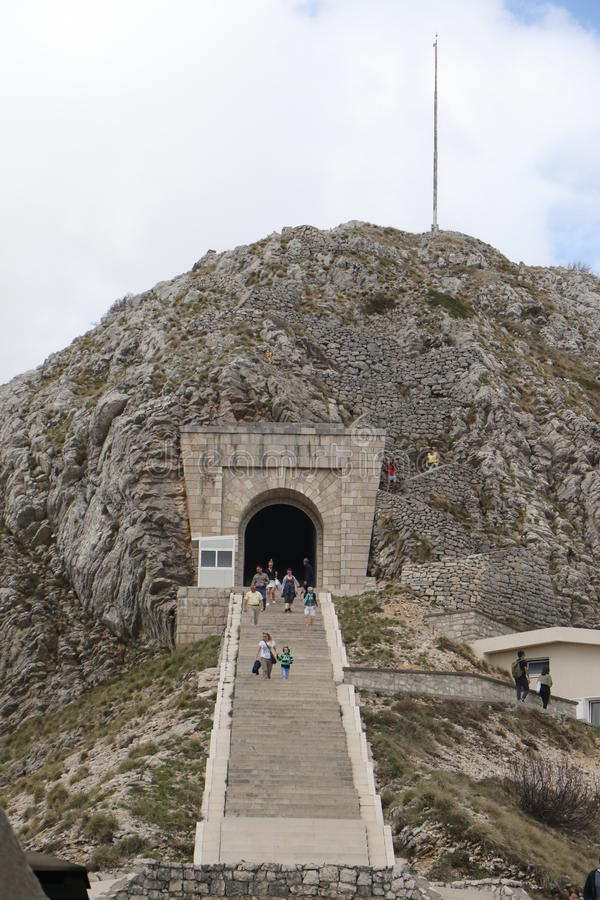 lovcen陵墓montenegro 免版税图库摄影