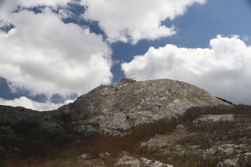 lovcen陵墓montenegro 免版税库存照片