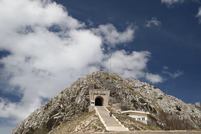 lovcen陵墓montenegro 库存照片
