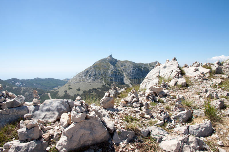 Lovchen Montenegro royaltyfri fotografi