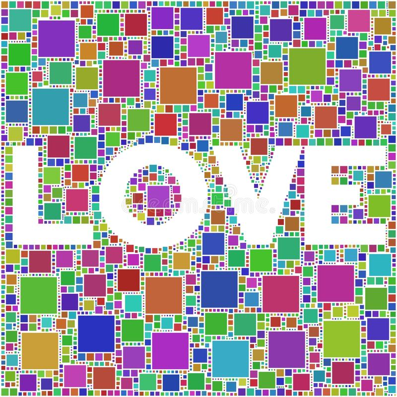 Download LOVE! stock vector. Image of sweetheart, sign, squares - 10896073